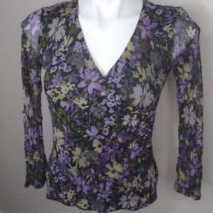 Sigrid Olsen Floral Fitted Blouse